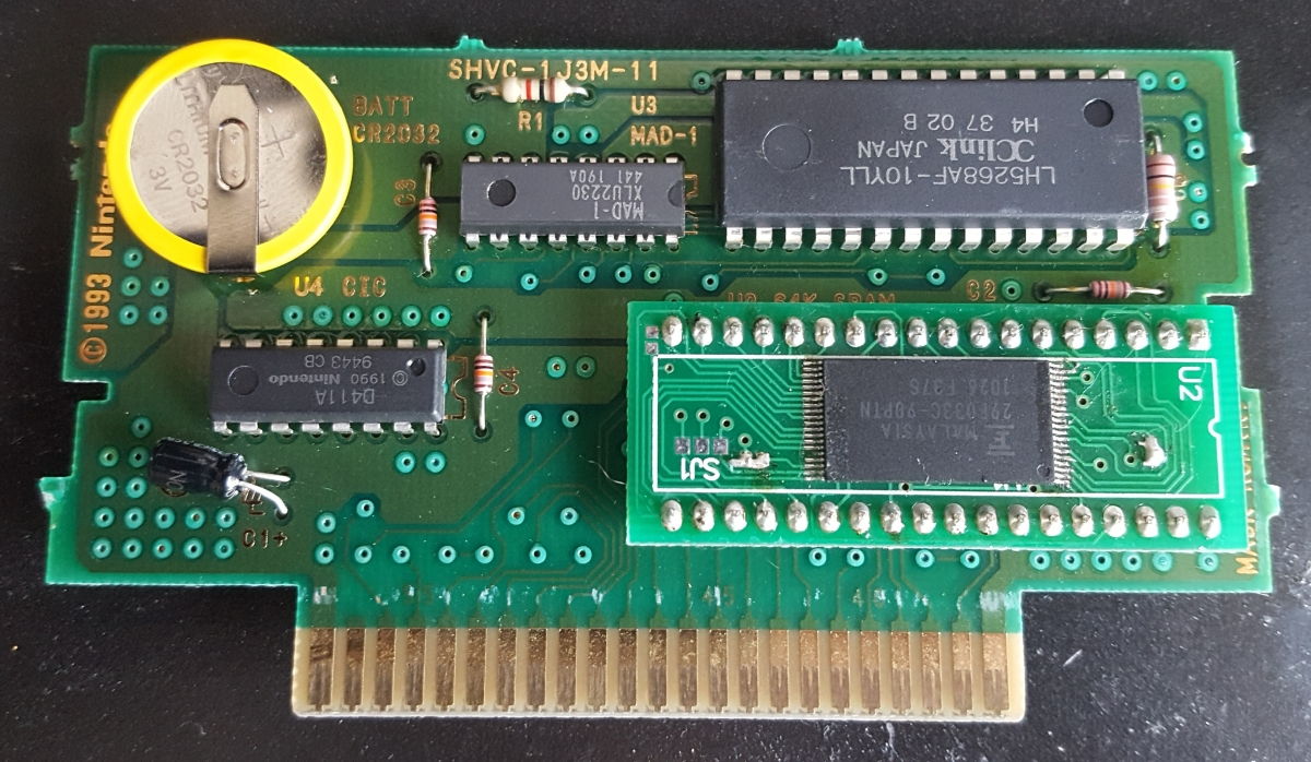 How To Make A Snes Reproduction Cartridge The Poor Student Hobbyist Resistor Stands Off From Circuit Board Keep